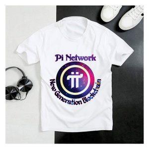 Áo thun cổ tròn in logo Pi Network