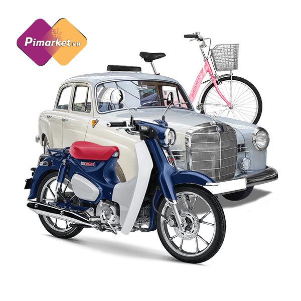 Xe máy, ô tô, xe đạp