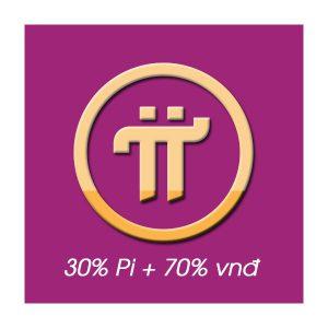 Đồng thuận 30% Pi + 70% vnđ