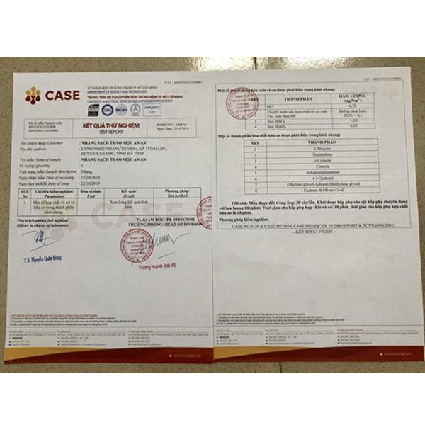 Giấy chứng nhận CASE về chất lượng sản phẩm